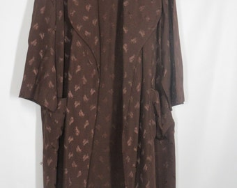 "Men's Dark Brown Dressing Robe............""The Cary Grant Look ! """