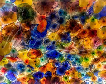 Glass Flower Ceiling at the Bellagio