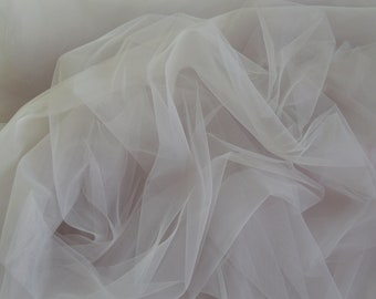 Pale grey soft luxury tulle Wedding tulle material Tutu fabric Tulle net fabric Tulle party decoration - 300 сm width #42
