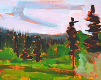McCall Idaho- Oil Landscape Painting