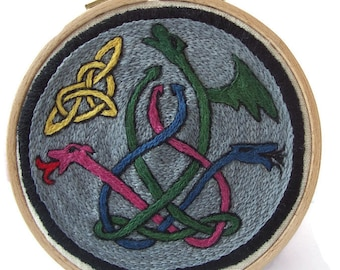 Traditional Embroidery Kit - Three Dragons