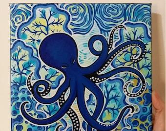 Little Blue Octopus #1