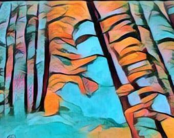 Blue landscape Digital art download