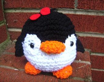 Crochet Plush Penguin Toy