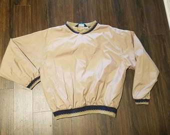 Men's Tri-Mountain Windbreaker Jacket ~ Light Brown ~ Sz Large ~ Lined