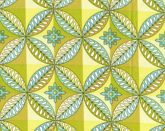 Quilting cotton fabric by the yard, 100% cotton designer fabric by Paula Prass. Green mosaic fabric. Need more fabric yardage? Just ask.