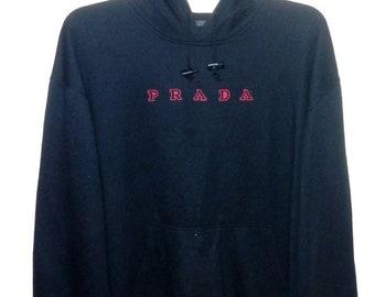 Free shipping vintage 90's Prada HOODIES medium size