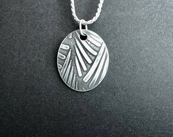 Sterling Silver Pendant with a Sterling Silver Chain