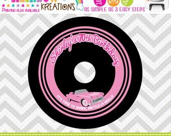 CDLABEL-438: DIY - 1950's Pink Chevy Cd Label