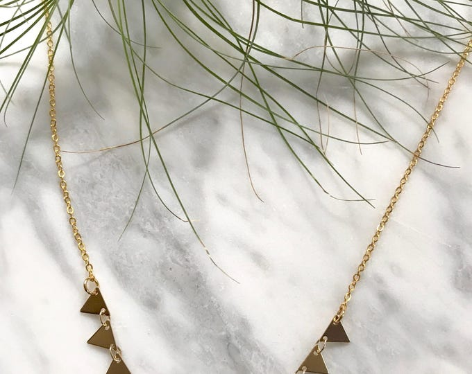 Featured listing image: Mini flag Brass layering Necklace