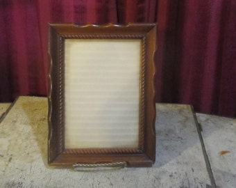 Wooden carve Picture frame with glass