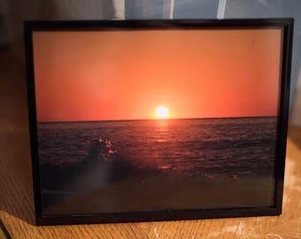 Framed Provincetown Sunset Photo