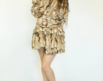 The Naked Coat--Ultra Soft Tissavel Faux Fur Coat by Sublime Designs--CUSTOM made w/ Your Choice Fur & Liner