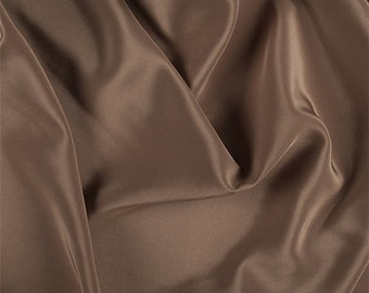 Brown Silk Crepe de Chine, Fabric By The Yard
