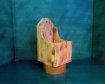 Handcrafted, wood wall box, mail box, rustic wall box, interior decor box, antique design, recipe box, storage box, wooden box,