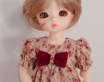Floral Ruffled Dress for  Little Fee -IH BID - Wiggs Tiny BJD - Tiny bjd