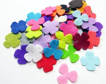 Felt Flower Shapes HELICES - set of 50 pieces