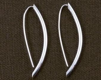 Polished Round Pod Shaped Drop Earrings ERD143