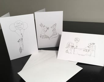 Get Well Soon Cards-Pack of 3