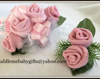 Baby Shower-Baby Shower corsage-Baby sock Corsage-Baby Girl Sock Corsage-Mommy to be Corsage-Mommy corsage-Baby Girl Corsage-Baby Shower Gif