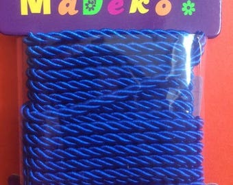 My Deko cord 3 mm electric blue color