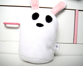 25% OFF SALE - Bunny Plush - Bunny Toy -  Bunny Pillow - Bunny Stuffed Animal - White