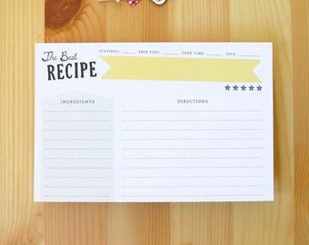 Set of 12 of The Best Recipe Double-Sided Recipe Cards, 100% Recycled, Ultra-Heavyweight