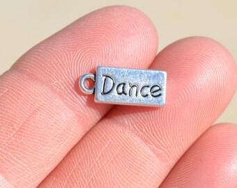 BULK 50 Silver DANCE Charms SC1192