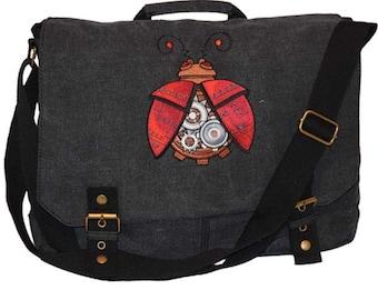 Steampunk Ladybird Messenger Satchel Bag