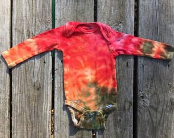Tie dye onesie 12 month, ice tie dye, Onesie - 12m (137)