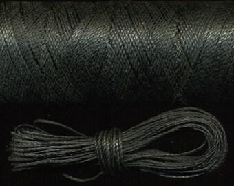 10 meters Linhasita black macrame string