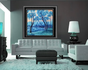Large landscape painting Landscape Artwork  Original Contemporary modern Oil painting Original painting Canvas Art Heavy Textured Painting