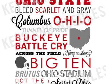 Ohio State University Print 8x10