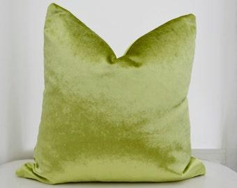 Green Velvet  Pillow Cover Velvet Pillow Cover,Lime Green Velvet Pillow Cover