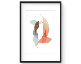 DRIFT no.15 - Mid Century Modern Freeform Design Unframed Art Print