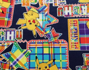 Pocket Monsters printed fabric 100cm x 45cm
