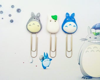 papers clips totoro polymer clay