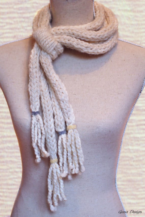 Tutorial  Crochet I-cord Neckalce, Bracelet, Scarf with Beads Designs