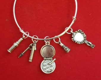 Silver Simply Gorgeous Themed Charm Bracelet
