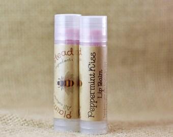 Peppermint Kiss Lip Balm || Organic Lip Balm || Peppermint Lip Balm