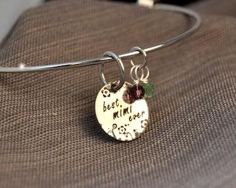 best mimi ever, mothers day gift personalized mimi bracelet, mimi jewelry, mimi necklace, mimi gift, custom name pendant