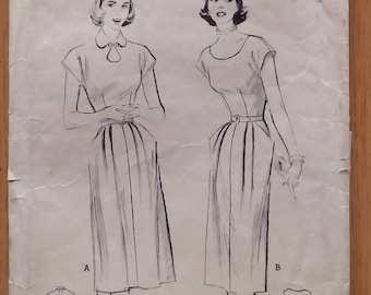 "1950s Dress - 32"" Bust - Butterick 5671 - Vintage Sewing Pattern"