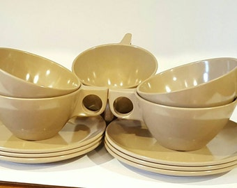 Vintage Melmac Coffee Cup and Saucer Set