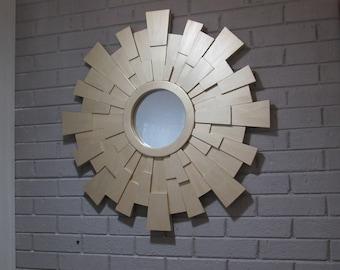 FREE SHIPPING!Sunburst mirror - wood wall art- gold sunburst mirror-dimensional mirror-gold mirror