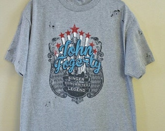 Sale Distressed/ Shredded John Fogerty/ CCR T Shirt