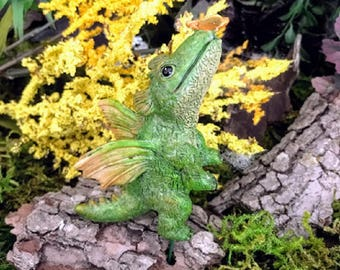 Miniature Dragon with Butterfly