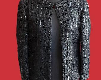 1950's sequined bolero jacket