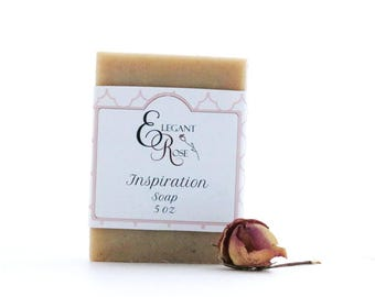 Inspiration Soap - Egyptian Pink Clay Facial Soap, Natural Handmade Soap - Essential Oil Soap