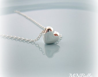Heart Necklace. Simple Heart Necklace. Sterling Silver Heart Pendant Necklace.
