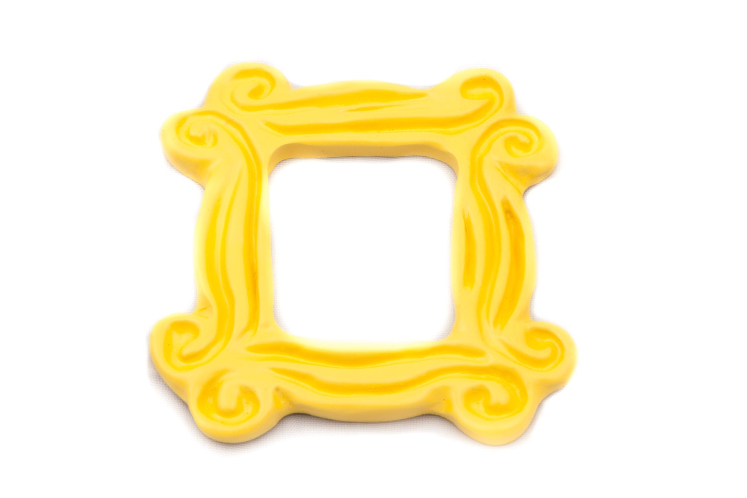 Yellow Peephole Frame Magnet 3 x 3 inspired by the one on
